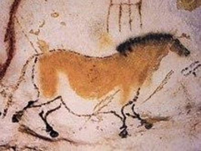 A horse depicted in the Lascaux cave complex in France. Photo: Wikipedia