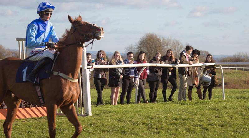 Hartpury students at Chepstow races.
