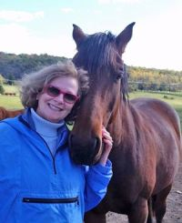 Horses and Humans Research Foundation board president Pam Cusick.