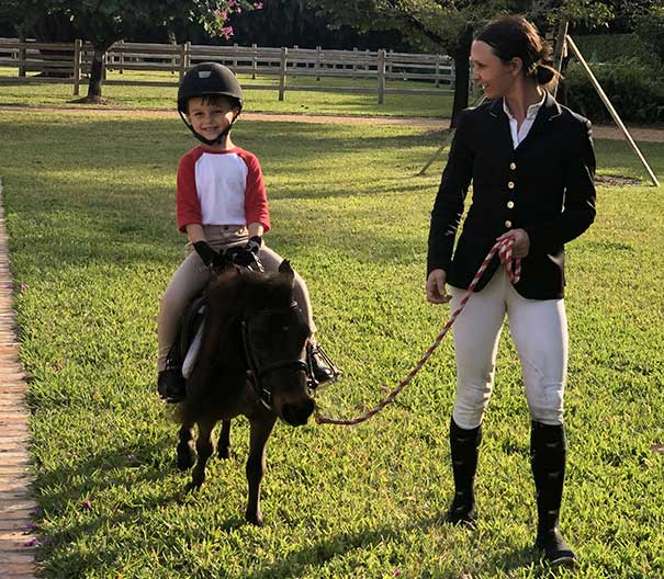 Love at first sight for Georgina Bloomberg and her son, Jasper, for Teddy!