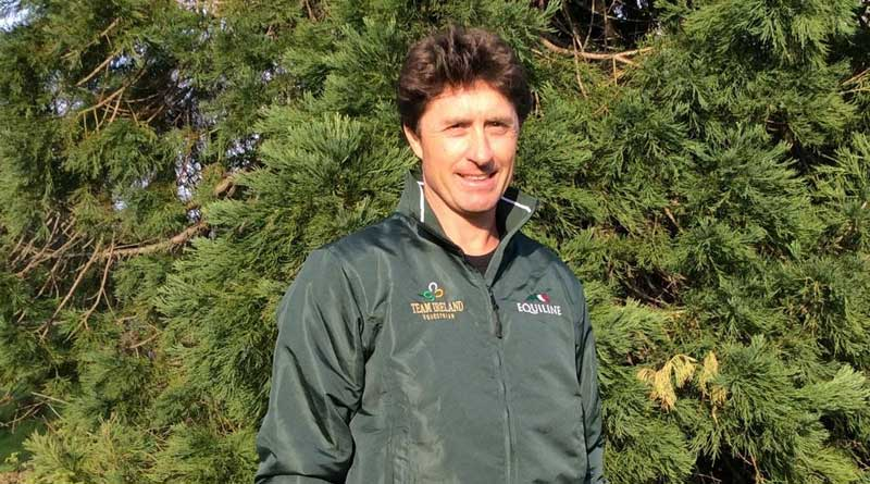 Grant Wilson in his new Team Ireland livery. He is the new showjumping coach for Ireland's eventing team.