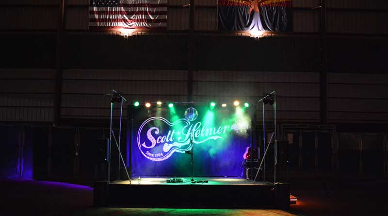 Scott Helmer's concert stage at the Horseshoe Park and Equestrian Centre, in Queen Creek, Arizona.