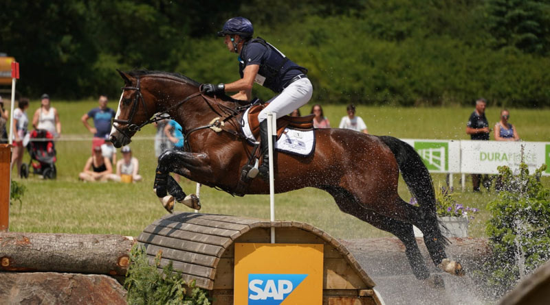 Tim Price and Wesko on the cross-country at the CCI4*-S Arville Event Rider Masters in Belgium.