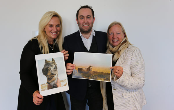 Photo competition judges, from left Gemma Tattersall, Matthew Seed, and Deborah Meaden with the top prize winners.