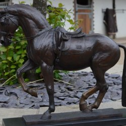 Valegro is the star of a new documentary Valegro: Sculpting the Legend about the creation of a bronze sculpture by Georgie Welch in Newent, Gloucestershire, honoring the famous dressage horse.