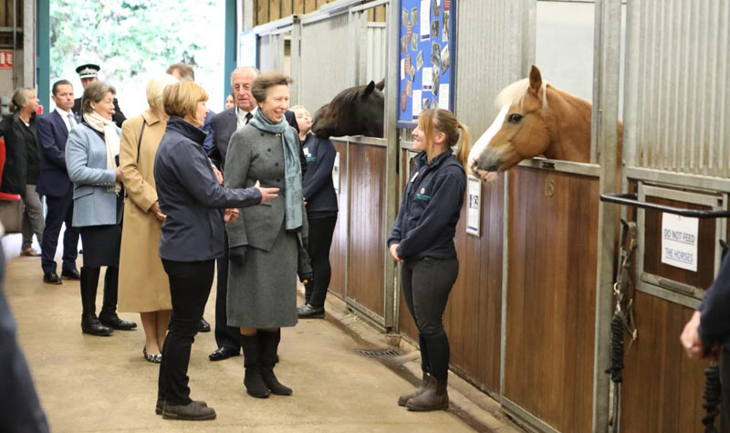 World Horse Welfare president Princess Anne, the Princess Royal, at the charity's redeveloped visitor centre at Penny Farm.