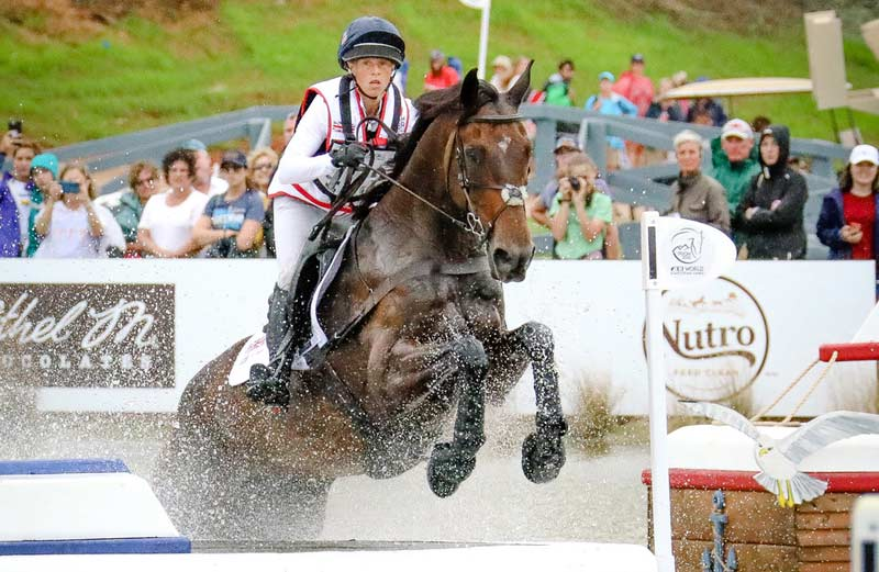 Ros Canter and Allstar B in action at the World Equestrian Games.