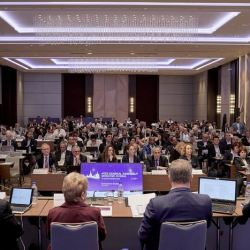 The dedicated Endurance Rules session attracted a full house and generated constructive dialogue in Moscow during the FEI General Assembly 2019. © FEI/Liz Gregg