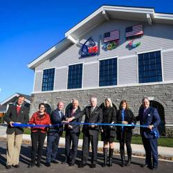 The official ribbon-cutting ceremony of new headquarters of US Equestrian on November 3. © Andrea Evans/US Equestrian