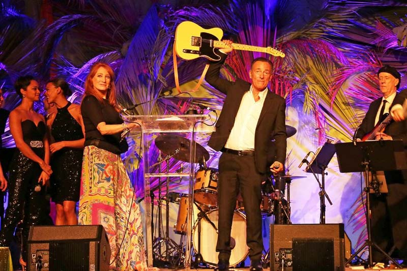Patti Scialfa and Bruce Springsteen, pictured at the USET Foundation's 2016 Rockin' Rio gala, have been named chairs of the Foundation's Take Me To Tokyo gala next Friday in Florida.