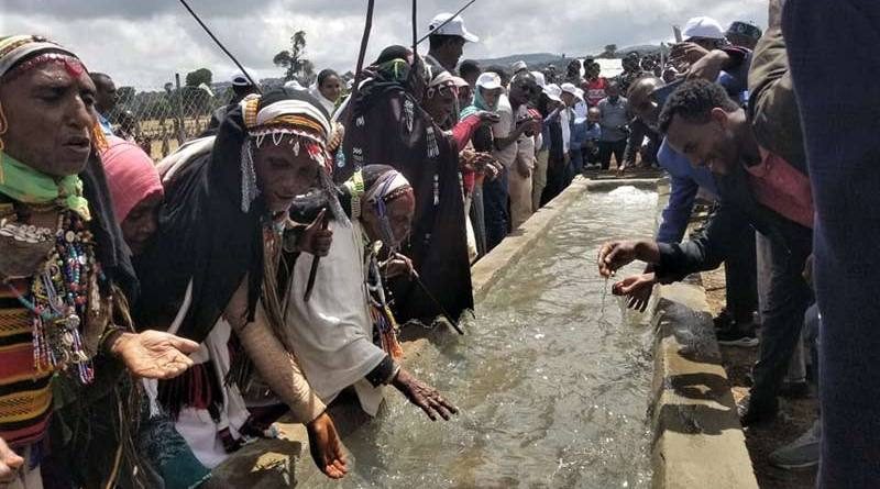 The opening of the new Bucha Raya water trough in Ethiopia.
