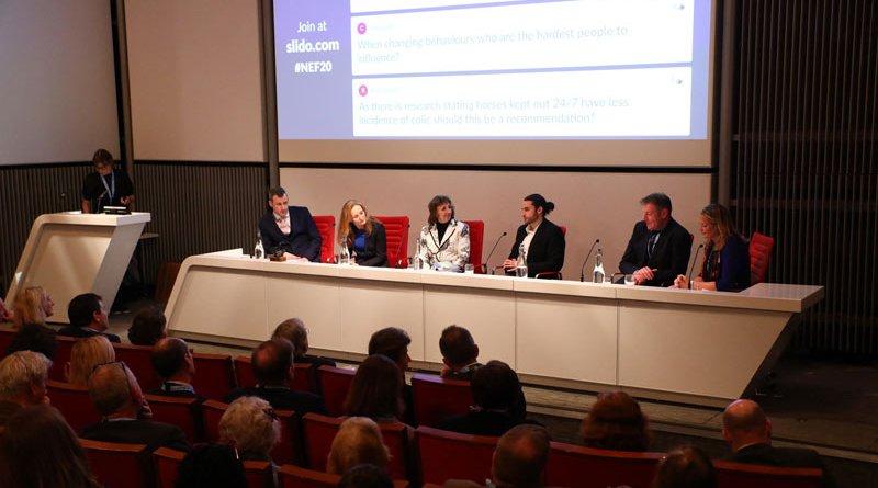 From left, David Rendle, Sarah Freeman, Professor Pat Harris, Zac Baynham-Herd, Andrew Turnbull and Abigail Turnbull at Britain's National Equine Forum on Thursday.