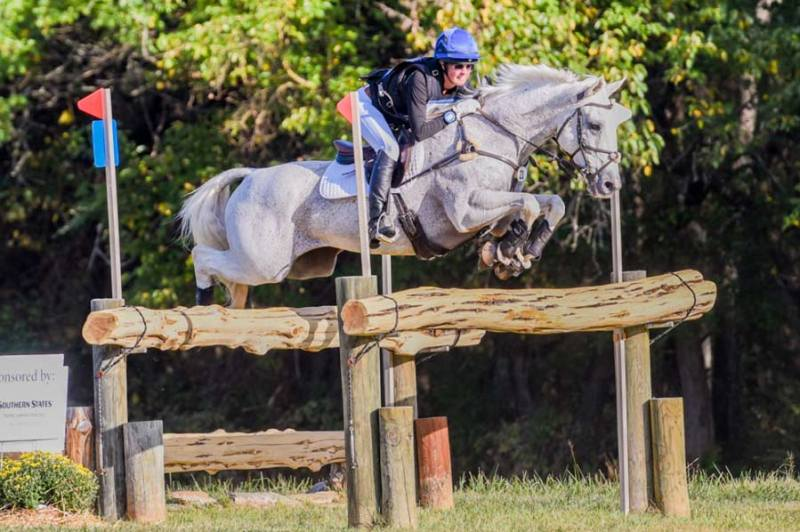 Alexandra Sacksen and Sparrow's Nio competing at the 2019 Morven Park International Horse Trials.