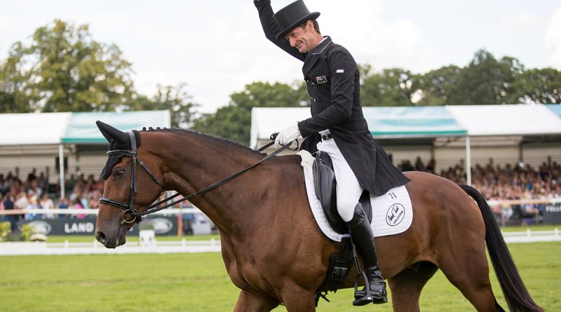 Sir Mark Todd at the Burghley Horse Trials in 2017.