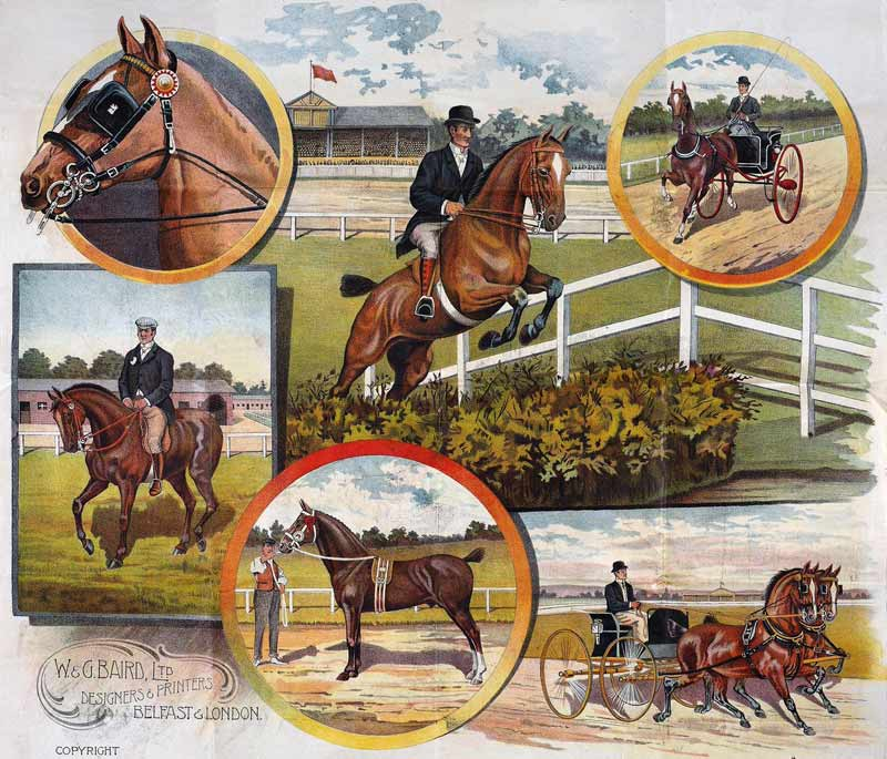 W&G Baird's equestrian poster has been made into a jigsaw.