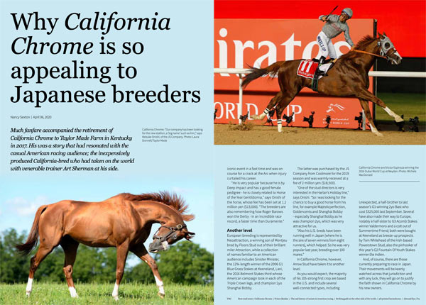 California Chrome is the cover star of the special edition of TRC.