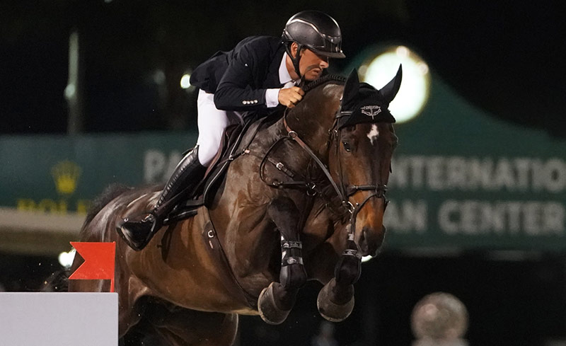 Bertram Allen and Pacino Amiro, the highest-earning Irish Sport Horse showjumper so far this year, as ranked by Hippomundo.