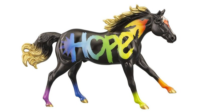 """""""Hope"""" is Breyer's 2021 Freedom Series Horse of the Year."""