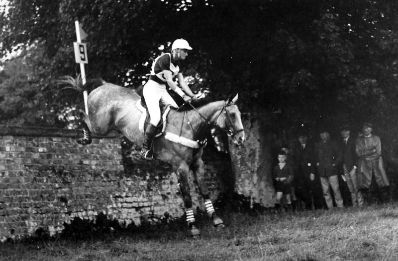 Mason Phelps Jr. aboard Gladstone in 1967 at the European Championships in Punchestown, Ireland.