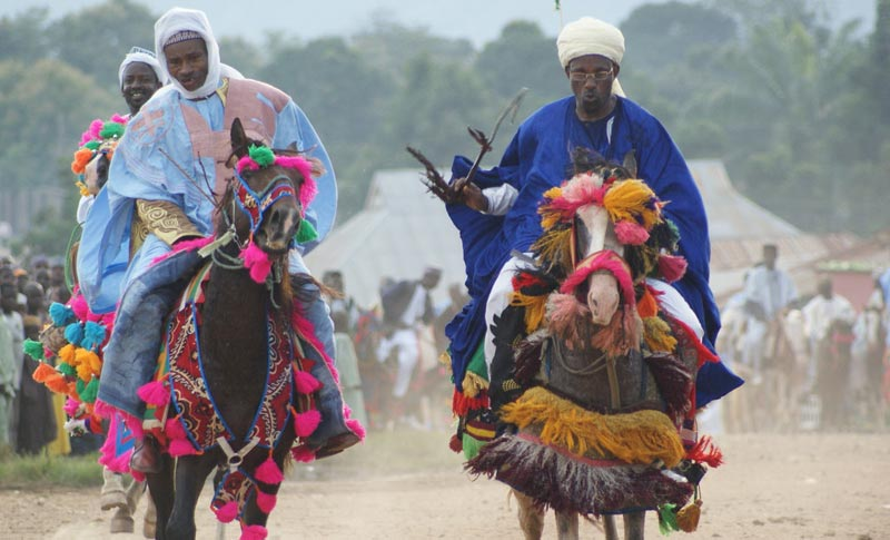 Fulani horse dancing competition, at the end of Ramadan, Nigeria