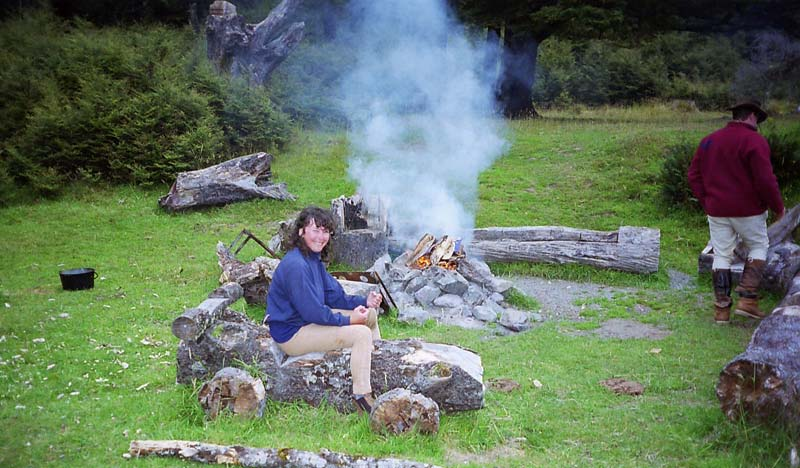 Using existing campsites will minimise the effects on our fragile wilderness.