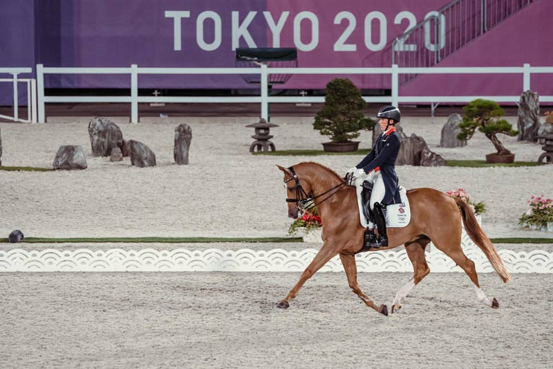 Charlotte Dujardin and Gio in the Grand Prix Team and Individual qualifier at the Tokyo 2020 Olympic Games.