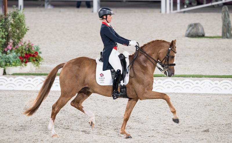 Charlotte Dujardin and Gio won the individual dressage bronze medal at Tokyo 2020.