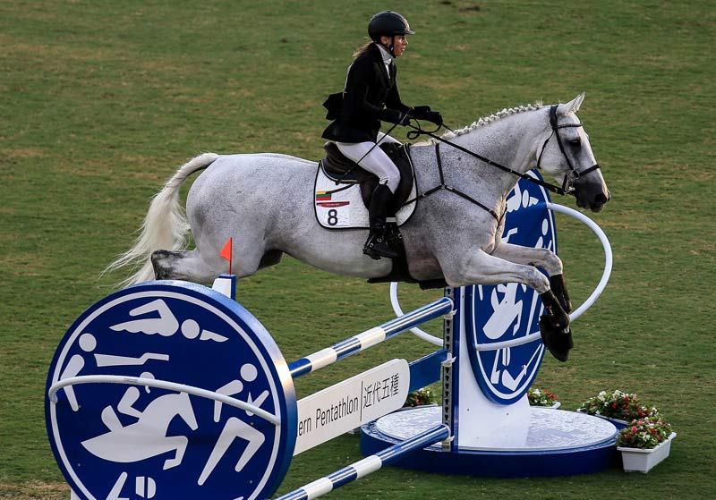Turkey's Ilke Ozyuksel and Cristbal 21 finished the riding round with 293 points.