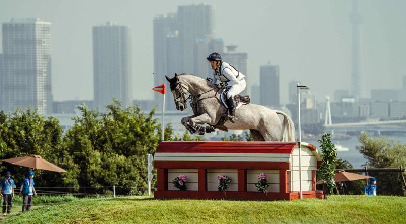 Great Britain's Oliver Townend is back in pole position individually and the British team maintains the lead after the cross-country phase of Eventing at the Tokyo 2020 Olympic Games.
