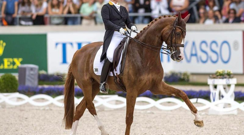 Isabell Werth and Bella Rose competing in the Deutsche Bank Prize 2019.