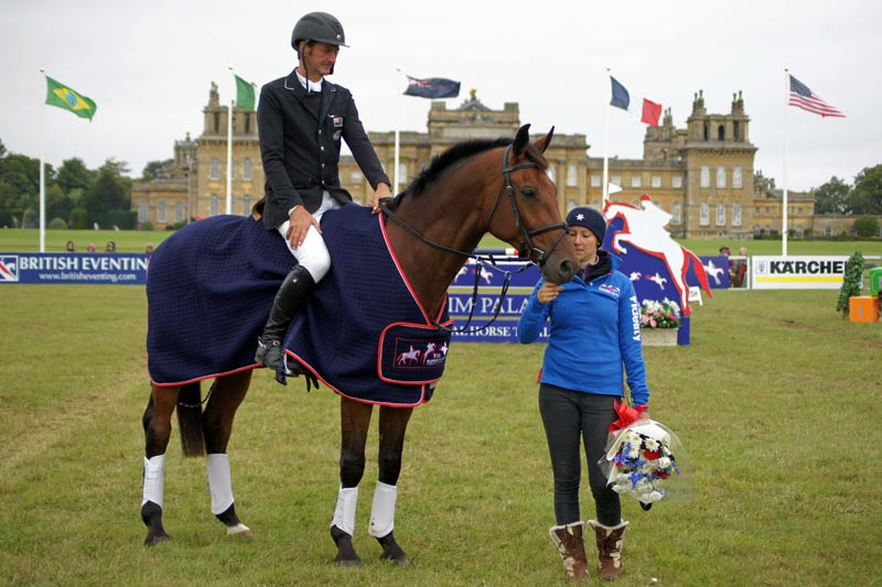 New Zealand eventer Sir Mark Todd and Leonidas at Blenheim in 2013.