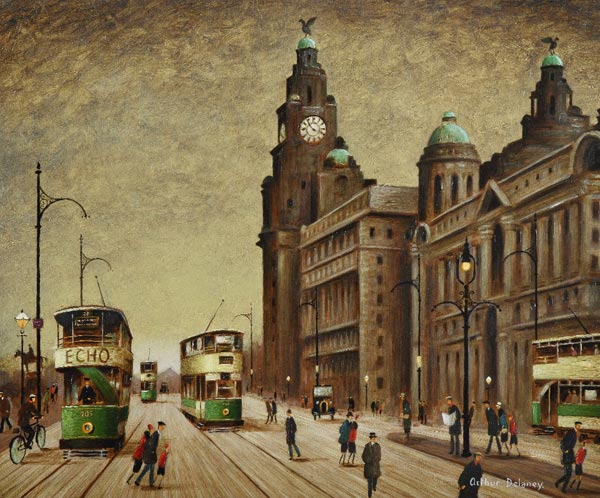 The Liver Building, Liverpool by Arthur Delaney.