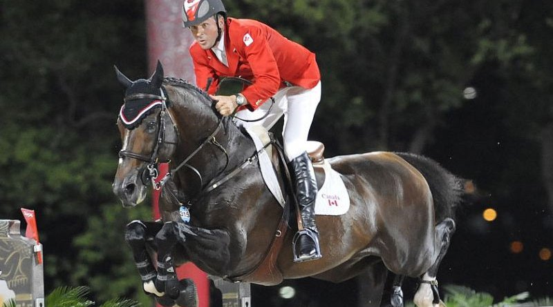 2008 Beijing Olympic show jumping champions Eric Lamaze and Hickstead.