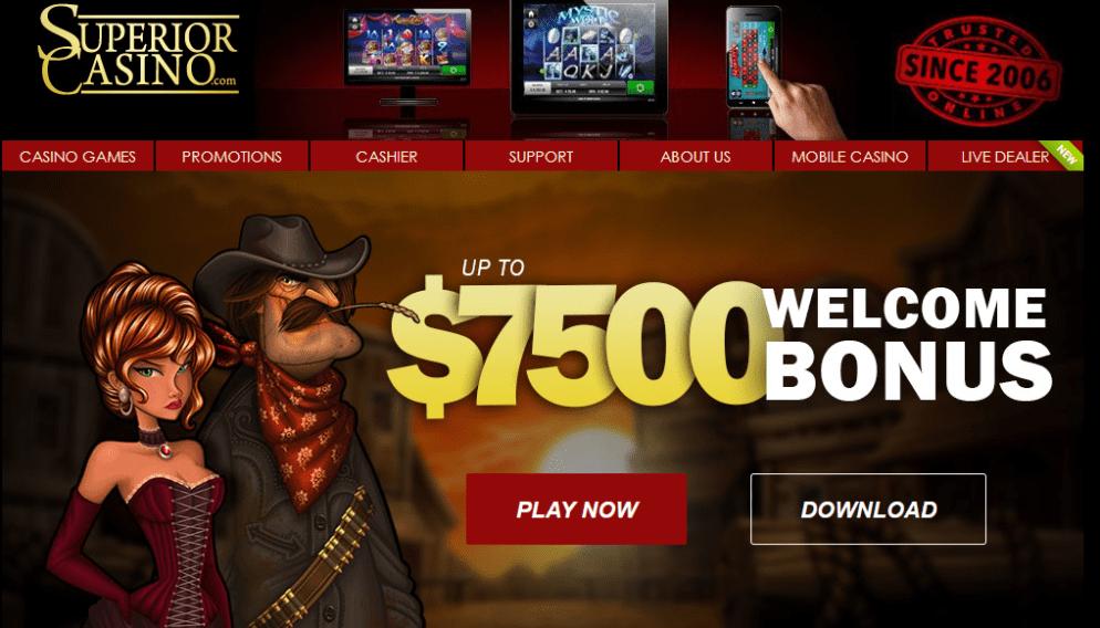 Screenshot from Superior Casino . Com