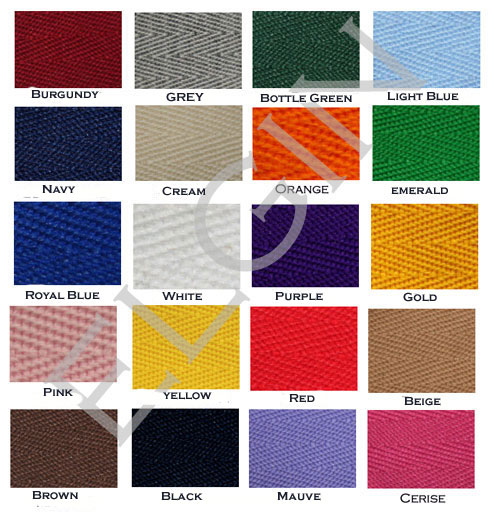 saddle pad binding colours