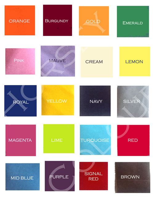 Heat press lettering colours