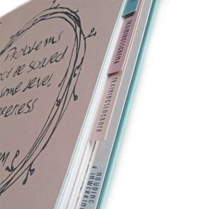 tabbladen in het Inspiratieboek
