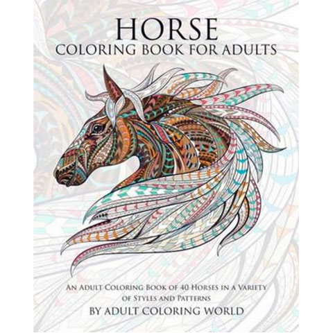 Kleurplaten Voor Volwassenen Handen.Creatief Ontspannen Paardenkleurboek Voor Volwassenen Horsy Stuff