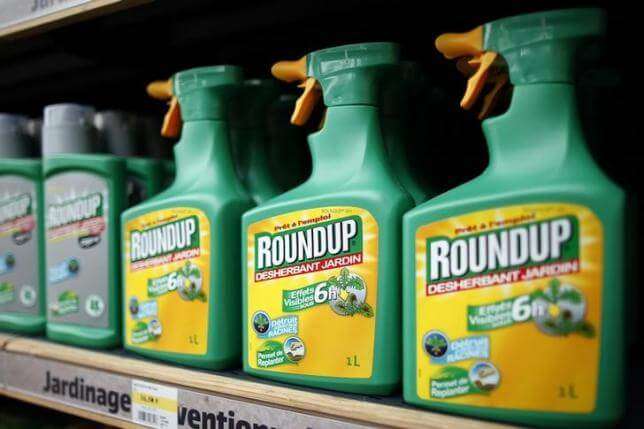 Roundup glyphosate on shelves