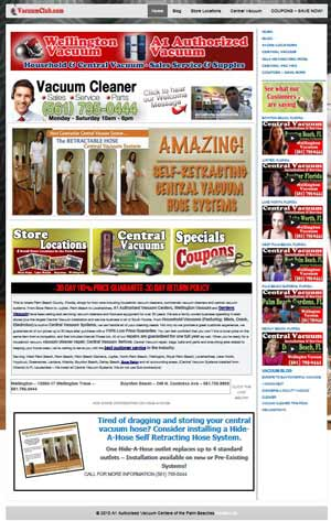 Wellington Central Vacuum Showroom Website - wellington, west palm beach, south florida