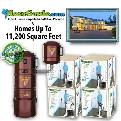 Hide-A-Hose Complete Installation Kit | Package 11200 sq/ft home