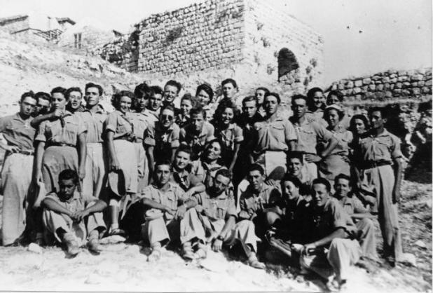 Members of kibbutz Sasa in 1948