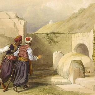 """""""קבר יוסף"""", ציורו של דייוויד רוברטס, 1839"""