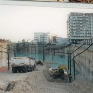 מגדל סמי עופר (מצגת קיר של בי״ח רמבם)- נוצר אגם בזמן הבניה