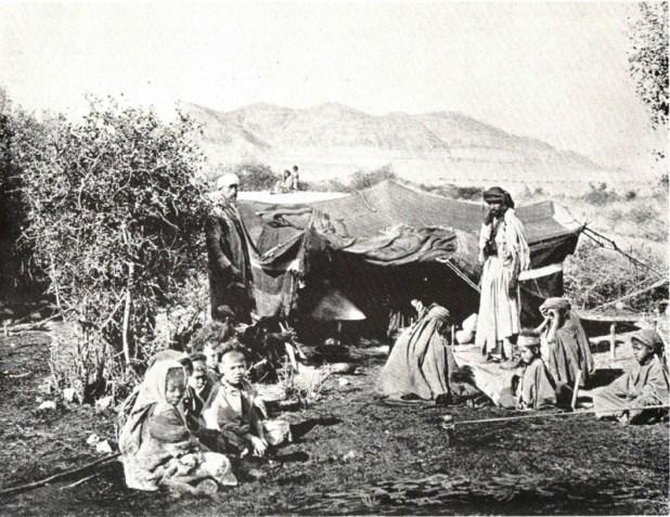 צילום: فلسطين في الذاكرة אוהלים לבדווים ביריחו 1893