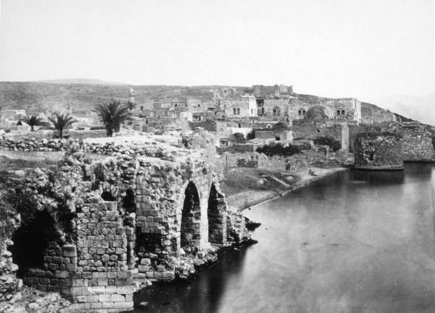 מראה כללי של טבריה בשנת 1870