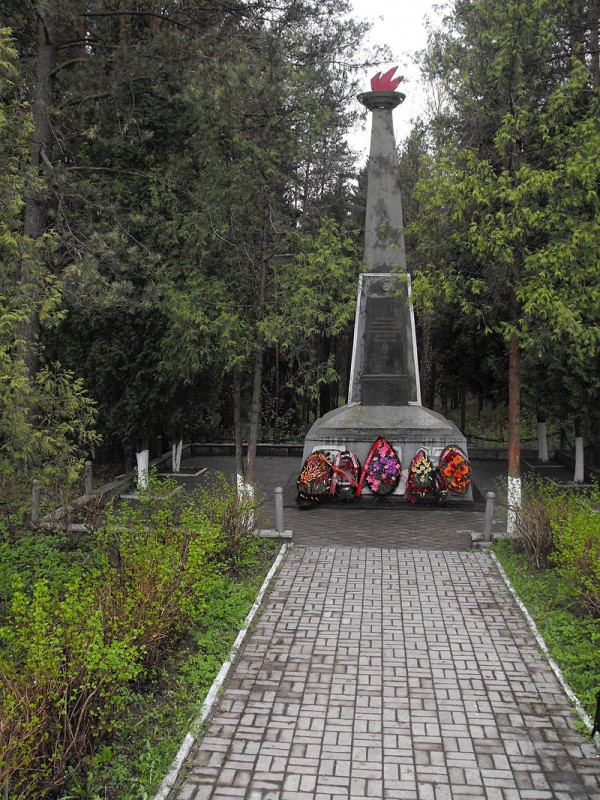 Memorial at the place of Nazi murder of prisoners of the Borisov ghetto. It is located in Borisov, on the side of Lopatin Street, approximately opposite across the street from the infectious hospital (Lopatin Street, 172). צילום:Vadim Akopyan