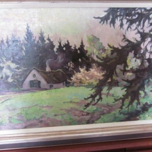 ציור צבעוני של אותו בית - בית המחבוא של Jaan. ציירה Adri Pieck, אחות של Gretha, בשנות ה-30