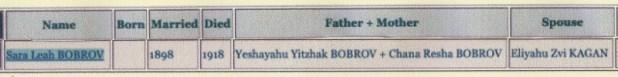 Search in Jewishgen