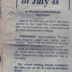 Abe Cohen: Fifty years of July 4
